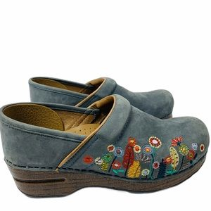 Dansko Embroidered Floral Clogs